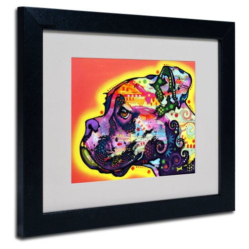 Pop Art Boxer - Profile Boxer Matted Artwork by Dean Russo with Black Frame, 11 by 14-Inch