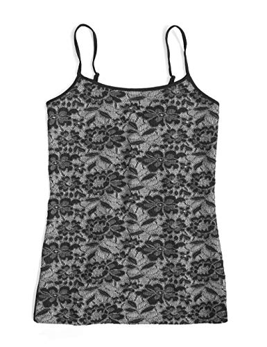 Ann Taylor LOFT Outlet Women's Lace Overlay Camisole (X-Small, Black)