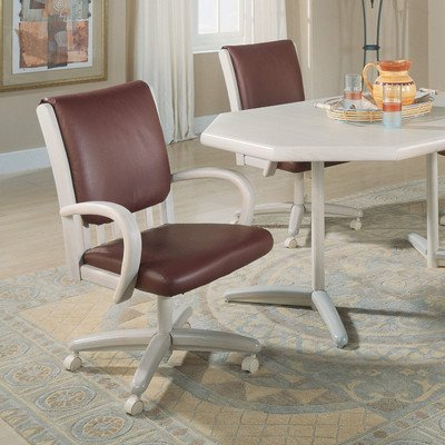 Chromcraft Core Tilt Swivel Arm Chair Upholstery: Wheat Walker, Finish:  Driftwood
