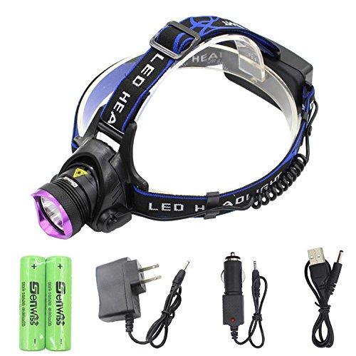 2000 Lumens T6 LED Bike Headlight Waterproof USB Flashlight (Blue) - 9