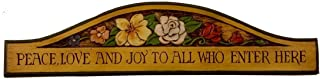 product image for Piazza Pisano Welcome Plaque Peace Love Joy to All Who Enter Here