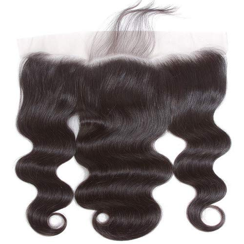 Lace Frontal Body Wave Closure Free Part 13x4 Ear To Ear Lace Frontal with Baby Hair Knots Can Be Bleached,Brazilian Virgin Remy Human Hair Frontal Natural Color (8 Frontal)