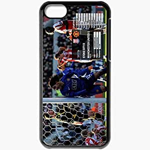 Personalized iPhone 5C Cell phone Case/Cover Skin 19 Manchester United Football Black