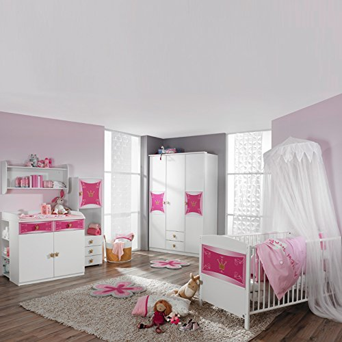 Komplett Babyzimmer Babymobel Madchenzimmer Babybett Gitterbett Weiss