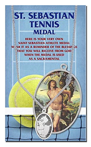 Amazon.com: Medalla de peltre auténtica de San Sebastián con ...