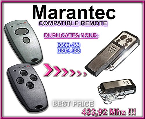 Marantec D302-433 / D304-433 compatible CLONE remote control replacement transmitter, 433,92Mhz fixed code clone!!!
