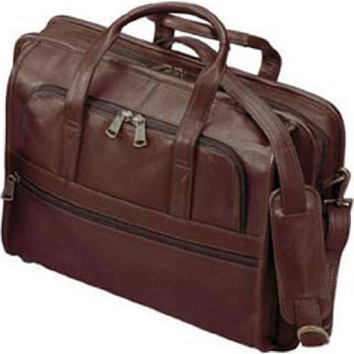 (Cowhide Lightweight Leather Briefcase Color: Brown)