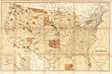 kitchen 67 reservations Historic Map | United States Indian Reservations 1885 | Map showing the location of the Indian reservations within the limits of the United States and territories | 67in x 44in