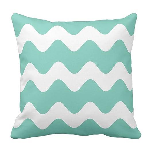Decorativo cuadrado azul turquesa Color blanco Patrón de ...
