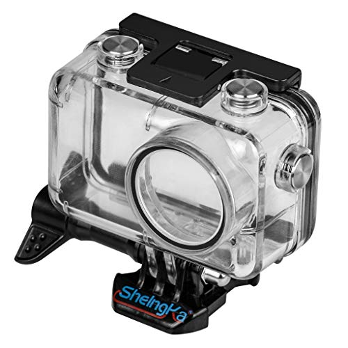 Sodoop Waterproof Case for DJI Osmo Action, New Sports Protective Housing Clear Case Shell Diving 45 Meter for DJI Osmo Action 4K Camera with Base Long Screw Accessories ()