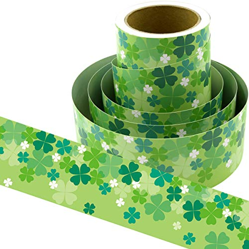 Shamrocks Bulletin Board Border Confetti-Themed 36ft Classroom Decoration 36ft
