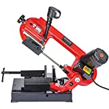 General International BS5202 4'' 5A Metal Cutting Band Saw, Red, Black & Gray
