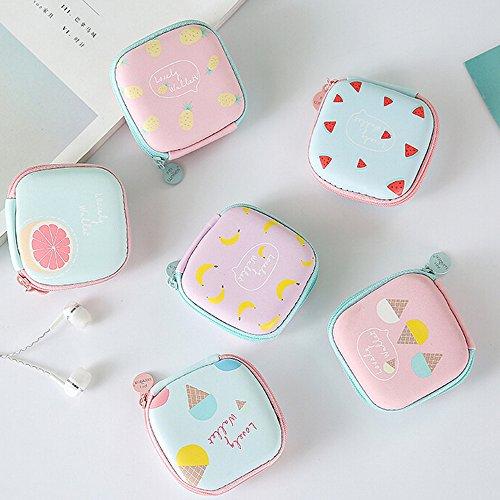 Pour E Portable Rond De Écouteurs Sac Cartes Rangement Ihaza Stockage Mini qOwYxB