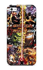 Iphone 5c Hard Back With Bumper Silicone Gel Tpu Case Cover Marvel