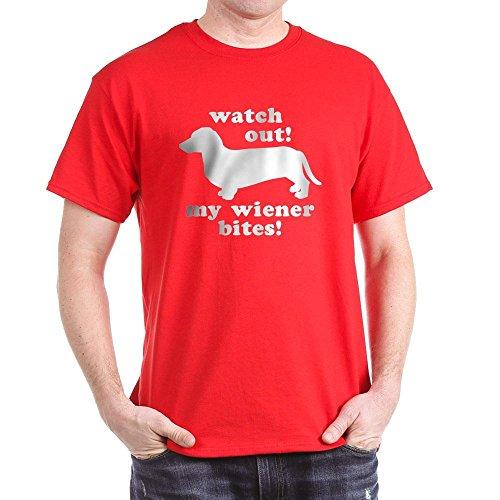 (CafePress My Wiener Bites Military Green T-Shirt 100% Cotton T-Shirt)