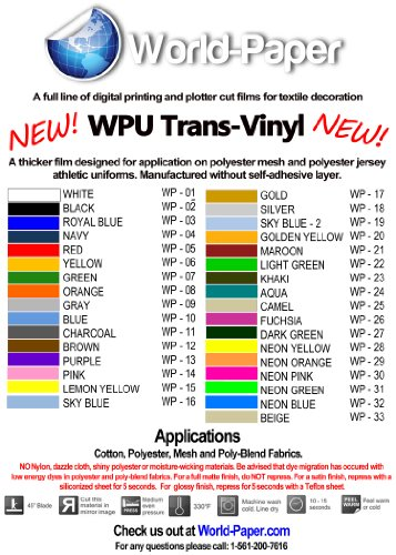 "15""x9'(3 Yards) T-shirt Heat Transfer Pu Vinyl for Cutter Press (Silver)"