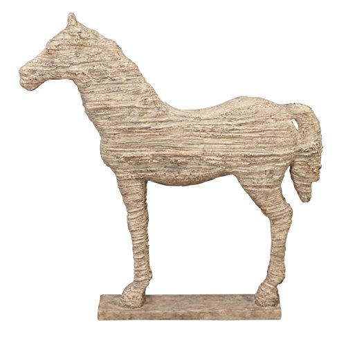 Deco 79 Polystone Horse, 19 by 12-Inch