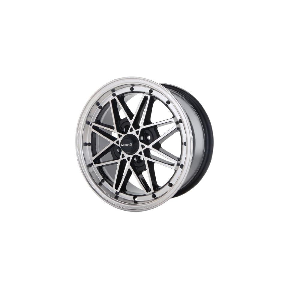 15x7 Maxxim Screech (Black w/ Machined Lip) Wheels/Rims 4x114.3 (S175114385)