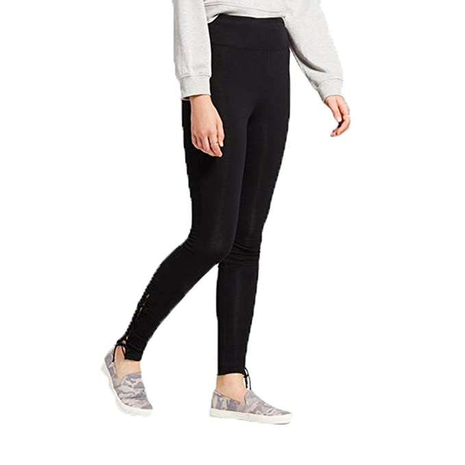 f935672ce55f0 Image Unavailable. Image not available for. Color: Mossimo Women's High  Waist Caged Ankle Leggings ...