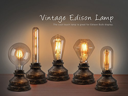 Vintage Industria Table Lamp Base for E26 Edison Bulb with Touch Dimmable Antique Night Light Desk Lamps Bedside Living Room Bedroom Decoration for Loft Coffee House Bar(Bulbs Not Included)