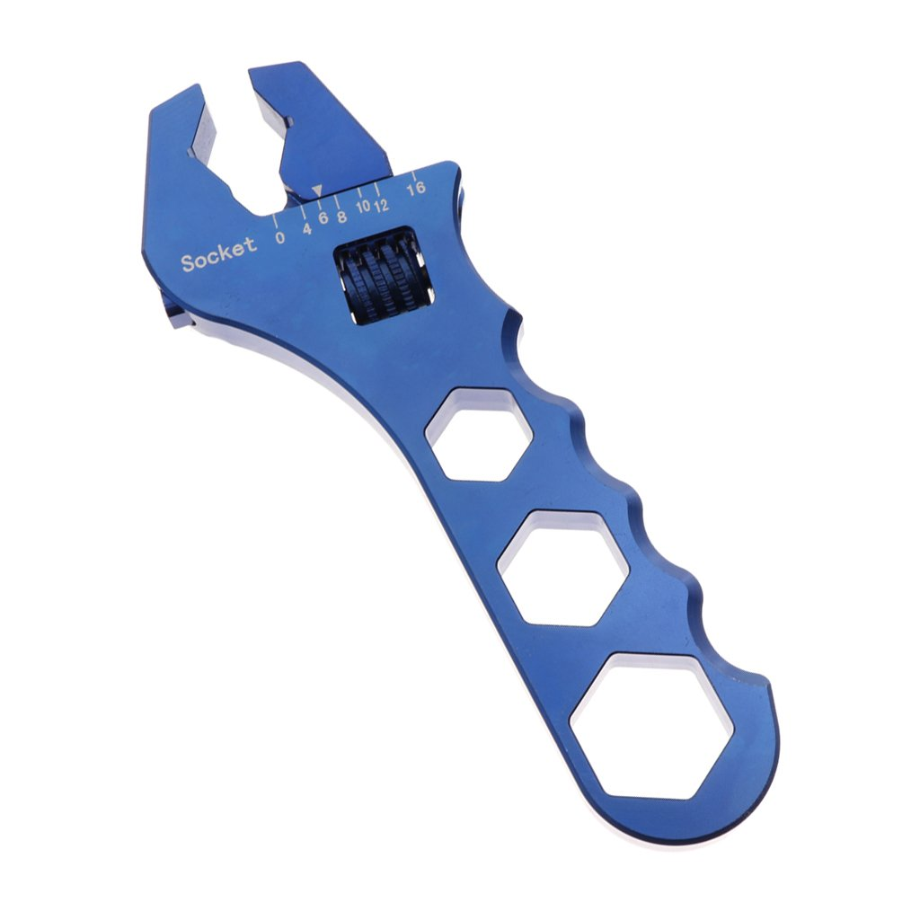 Baoblaze Car Oil Filter Wrench AN3 to AN16 Release Tool AN Fitting Spanner Adjustable - Blue by Baoblaze (Image #1)