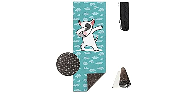 Amazon.com : QNKUqz Funny English Bull Terrier Deluxe Yoga Mat Aerobic Exercise Pilates : Sports & Outdoors