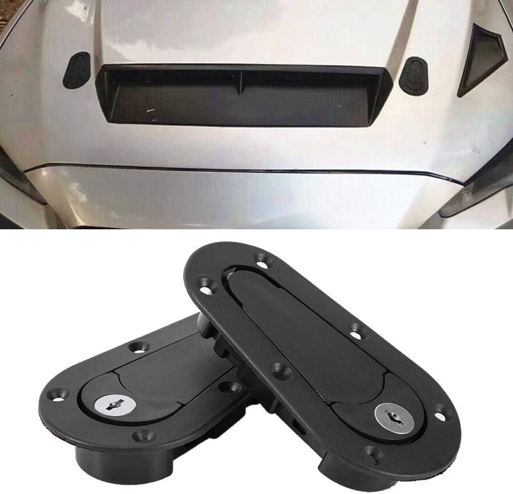 Verrou de capot de voiture universel Noir Kit de verrouillage de capot de moteur Broche de verrouillage de s/écurit/é