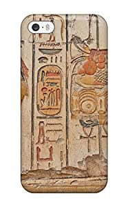 Premium Egyptian Wall Carvings Back Cover Snap On Case For Iphone 5/5s