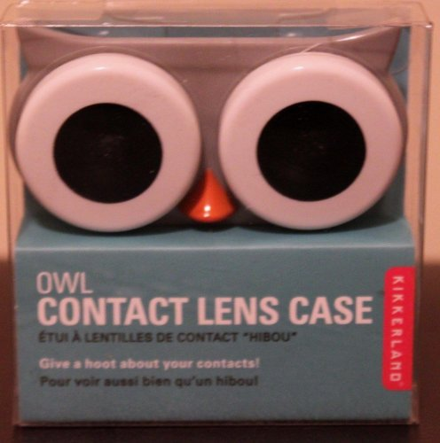 Kikkerland Owl Contact Lens Case (Gray) - Gray Contact Lenses