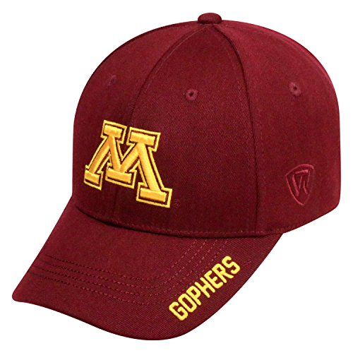 Top of the World NCAA-Premium Collection-One-Fit-Memory Fit-Hat Cap-Minnesota Golden - Gophers Wool Minnesota Golden