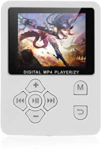 Gecheer MP3 MP4 Digital Player 1.8 Inches Color Screen Music Player Lossless Audio Video Player Support E-Book FM Radio Voice Recording TF Card Stopwatch