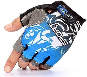 قفازات نصف اصابع للياقة البدنية وقاعات الرياضة المنزلية وحمل الاثقال وركوب الدراجات