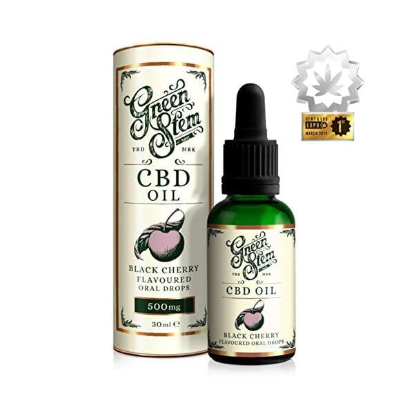 Green Stem Black Cherry CBD Oil 500mg