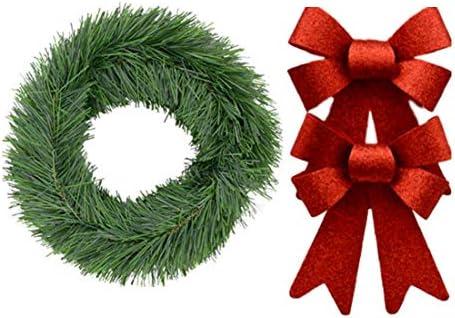 Bulk Christmas Garland.Bulk Set Of 4 Christmas Garland For Front Door Porch