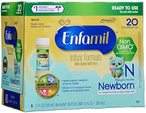 Enfamil Newborn Non-GMO Baby Formula - Nursettes - 2 fl o...