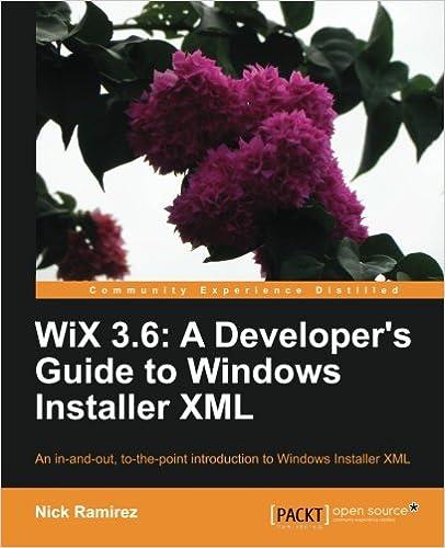 WiX 3 6: A Developer's Guide to Windows Installer XML: Nick Ramirez