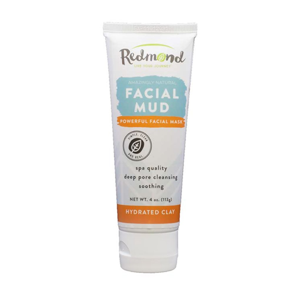 Redmond Bentonite Hydrated Clay Facial Mud Mask,4 Ounce Tube
