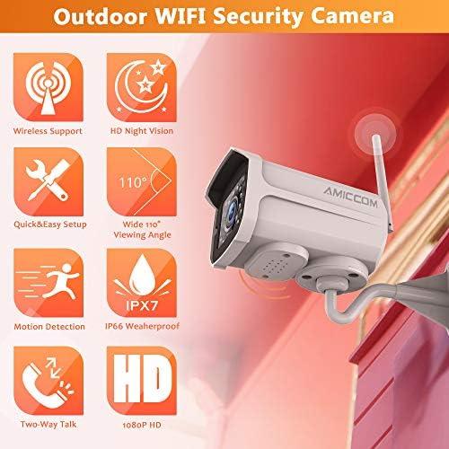 Audio de Dos V/ías C/ámara de Vigilancia Detecci/ón de Movimiento TMEZON 1080P PTZ Camara Vigilancia Exterior C/ámara de Seguridad WiFi Exterior Visi/ón Nocturna 50M IP65 Notificaci/ón de Alarma