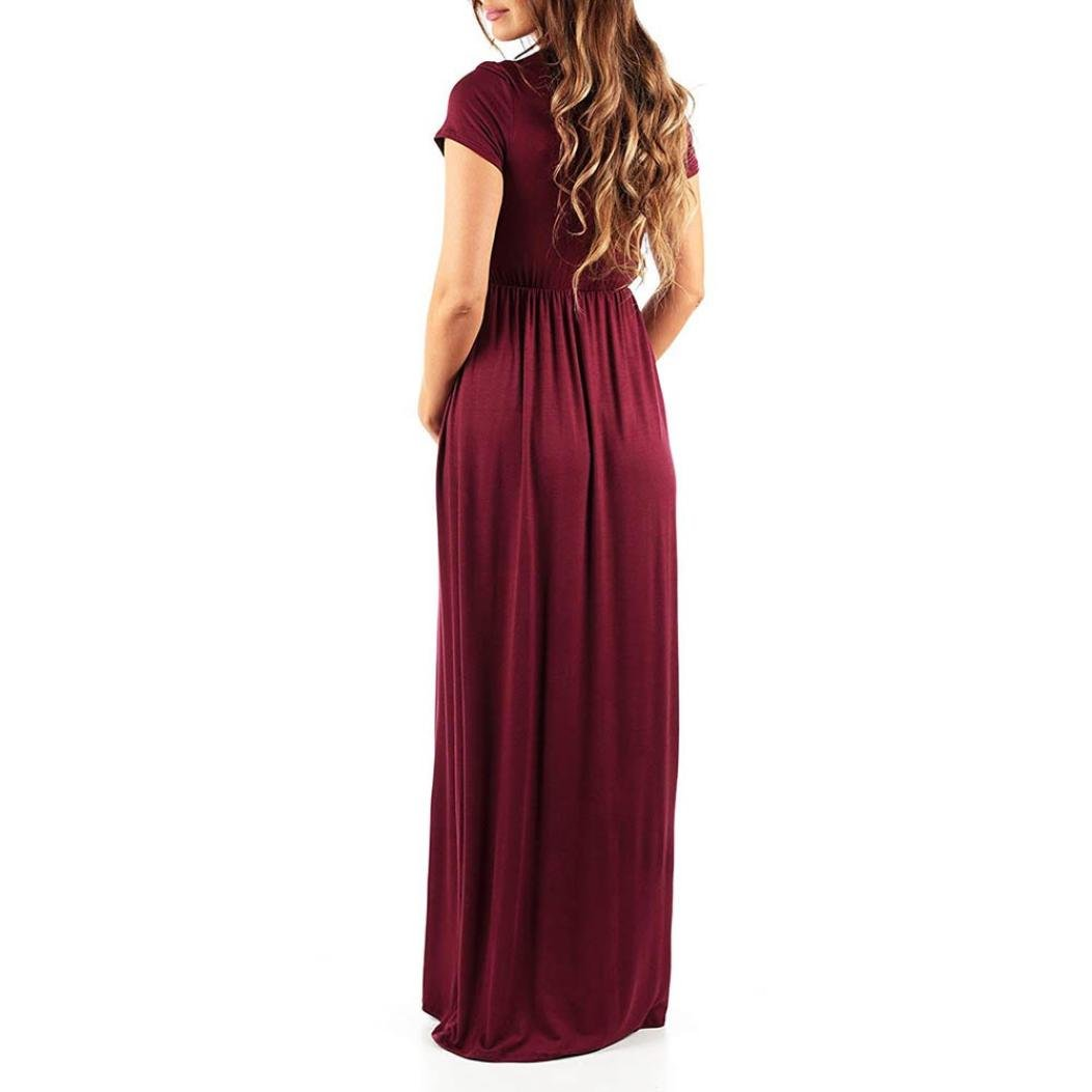 Amazon.com: Dacawiin Pregnant Womens Nursing Pregnancy Dress Casual Solid Maternity Long Dress: Kitchen & Dining