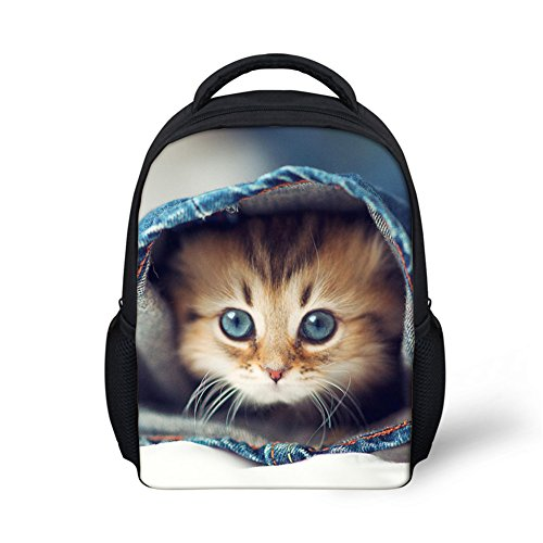 Kitty Print Mini Kids Backpack Toddler Preschool Bag 12 Inch