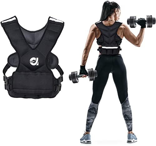 ATIVAFIT Sport Weighted Vest 8 LBS 16 LBS for Men Women, Workout Equipment Body Weight Vest with Pocket, Reflective Stripe and Adjustable Strap, Weighted Body Vest for Training, Jogging, Cardio