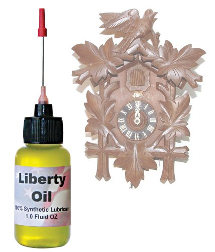 Liberty Oil, the Best 100% Synthetic Oil for Lubricating All Moving Parts of Your Cuckoo Clocks Moving Parts.