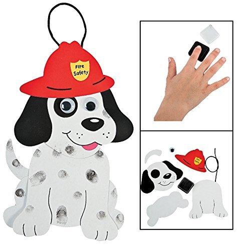 Dalmatian Fire Dog - Fire Safety Dalmatians Craft Kit (24 Pack) 8