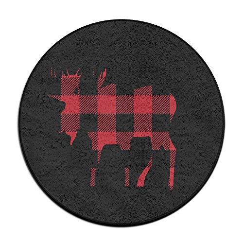Yiot Buffalo Plaid Moose Lumberjack Red Black Design Ultra Soft Indoor Modern Area Rugs Fluffy L ...