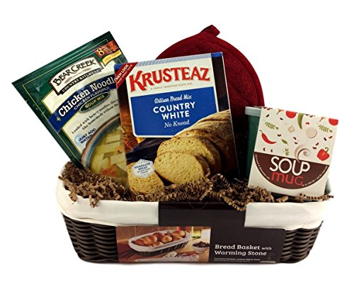 Soup Bread Gift Basket Bowl PotHolder Holiday Hostess Gift Basket (Soup Gift Basket Ideas)