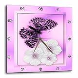 Cheap 3dRose SmudgeArt Fritillary Butterfly D Wall Clock, 10 by 10-Inch