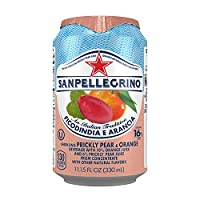 Sanpellegrino Prickly Pear and Orange Sparkling Fruit Beverage, 11.15 fl oz. Cans (24 Count)