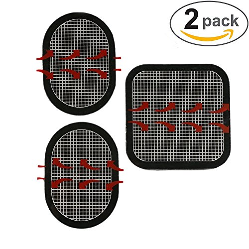 Gel-Pads-Replacement-Unit-Set-Pack-for-All-Abdominal-Belts-black-2-sets-of-6-pads