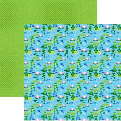 Happy Frogs - The Menagerie - 12x12 Scrapbook Papers by Reminisce - 5 Sheets ()