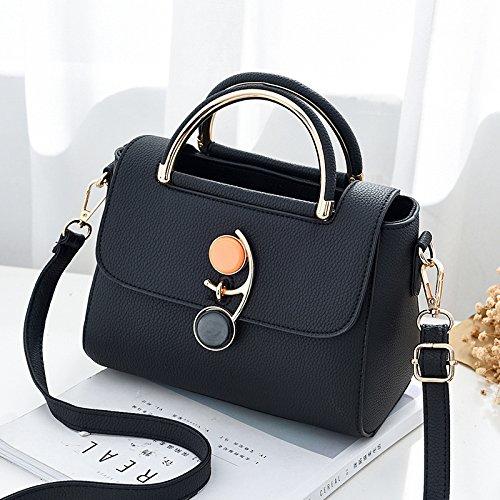 LiZhen la nuova versione del pacchetto coreano moda borse donna wild singole borse tracolla minimalista tote bag, Borsa messenger in piccoli pacchetti di partito, nero